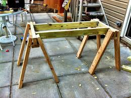 a pittsburgher back from the sandbox building a sawhorse workbench