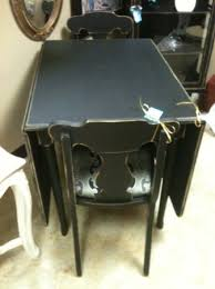 Vintage Painted Black Drop Leaf Table The Perfect Piece Cary Nc