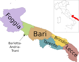 Italy Regions Map by File Map Of Region Of Apulia Italy With Provinces Es Svg