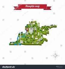 Memphis Map Memphis Map Flat Style Design Vector Stock Vector 264508934