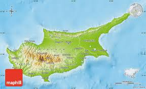 map of cyprus physical map of cyprus