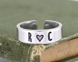 custom initial rings custom initial ring etsy