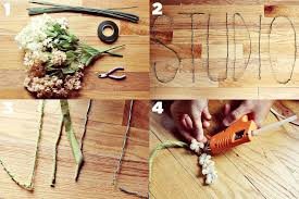 brown floral wire floral wire words diy project a beautiful mess