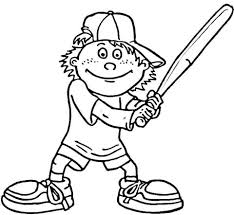 baseball player in sneakers coloring page free printable