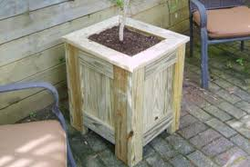 Wooden Planter Box Plans Free by Free Pressure Treated Planter Box Plans Woodwork City Free