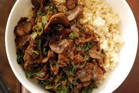 vegan mushroom gravy recipe dishmaps millet bowl with rosemary mushroom gravy and kale the taste space