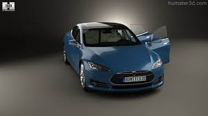 360 view of tesla model s with hq interior 2014 3d model hum3d store