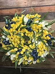 tulip wreath spring wreath spring tulip wreath yellow tulip