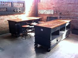 industrial kitchen islands soulful before after steele industrial kitchen island sourn living