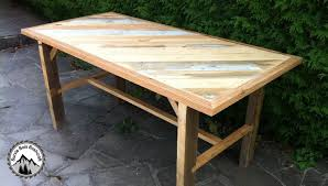 plan pour fabriquer un bureau en bois fabrication d une table solide en bois de récupération partie 1