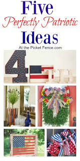 how to make a patriotic wood ruler basket at the picket fence