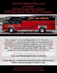 fire truck invitations city of cayce receives new fire truck residents invited to attend