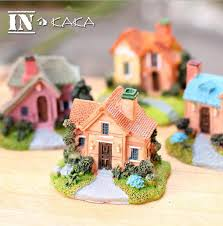 aquarium ornaments resin house villa model sculpture micro