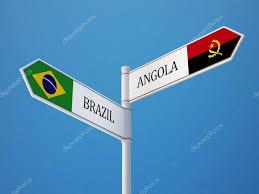 Brazil Flag Image Brazil Angola Sign Flags Concept U2014 Stock Photo Eabff 55544583
