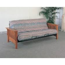 Futon Bed Frame Brendan Full Size Mission Style Frame With Inner Spring Futon