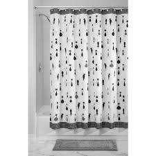 Checkered Shower Curtain Black And White by Amazon Com Interdesign Sophisticat Fabric Shower Curtain 72 X 72