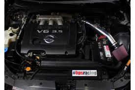 nissan altima 2013 engine hps shortram cool air intake kit 04 06 nissan altima v6 polish