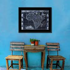 Home Decoration Accessories Wall Art Africa Vintage Vivid Color Map Home Decor Wall Art Bedroom Canvas