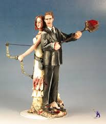 camo wedding cake toppers zombies don t like shovels cake topper garden studios