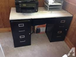 Diy File Cabinet Desk Moving Sale 2 Black Filing Cabinet Desk For Sale In Kansas