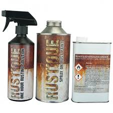 rustique spray on rust paint kit covers upto 4 sqmt