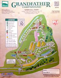Michigan Campgrounds Map by Grandfather Campground Map