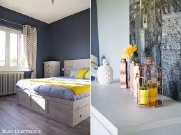 notre chambre maison notre chambre avant et après bleu electrique