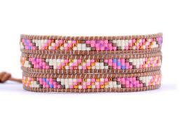 weave wrap bracelet images Haut de gamme fantaisie s lectionn e verre perles 3 brins weave jpg