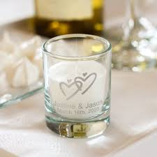 wedding candle favors personalized wedding votive candle holders
