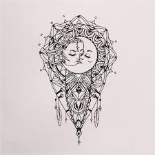 sun and moon mandala drawing search drawing