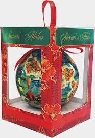 hawaiian island hawaii boxed ornaments