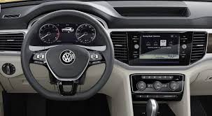 volkswagen atlas interior seating 2017 volkswagen atlas is a new seven seater crossover for north