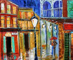 karen tarlton new orleans french quarter rainy night