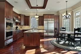 Dark Cherry Wood Kitchen Cabinets by Cherry Cabinets With Dark Wood Floors Unique Home Design