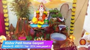 kishor patil home ganpati decoration video u0026 ideas www ganpati