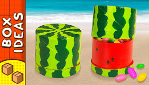 diy miniature water melon gift box craft ideas for gifts