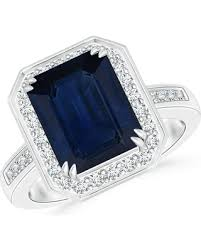 blue sapphires rings images Spectacular deal on angara 3 5 ctw diamond halo emerald cut blue
