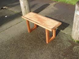 driftedge woodworking distressed douglas fir bench with osage