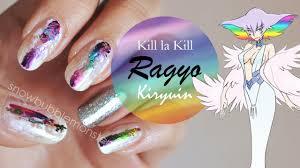 kill la kill u2022 ragyo kiryuin inspired nails snowbubblemonster