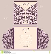 Invitation E Card Wedding Invitation Or Greeting Card With Abstract Ornament Vector