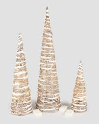 gold glitter led cone trees add some sparkle to your decor this