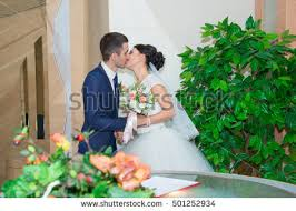 wedding registrations wedding interior newlyweds wedding photo stock photo