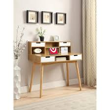 oslo writing desk with hutch brown convenience concepts target