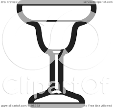 margarita illustration clipart of a black and white welled margarita glass royalty free