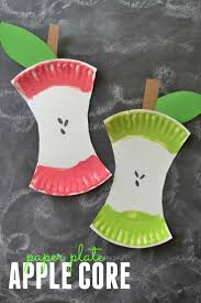 kids craft project paper plate apple core kids craft projects