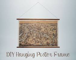 Poster Frame Ideas Diy Hanging Picture Frame Would Be Perfect For A Us Or World Map
