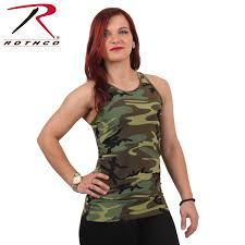 jeep tank top rothco womens camo workout performance tank top