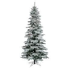 shop vickerman 10 ft pre lit utica fir slim flocked artificial