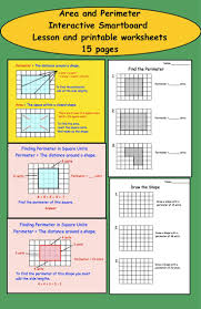 11 best 3rd grade area and perimeter math activities images on