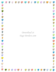 free printable heart border customize online or download as is